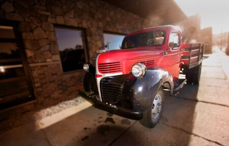 chevy: Red Old Pickup
