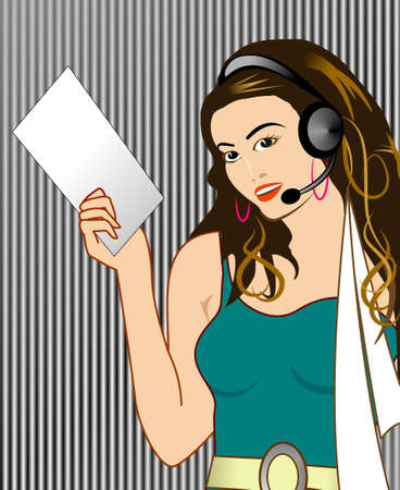 Call Center Girl Banque d'images - 4860643