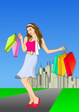 Shopping Girl photo