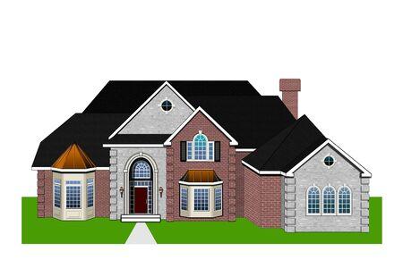 Home Rendering Stock Photo - 4860638