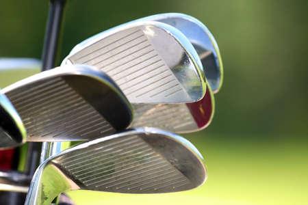 respectable: Golf Clubs Stock Photo