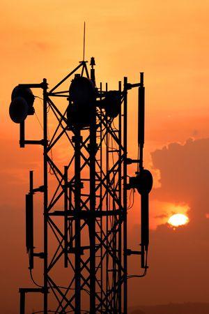 Communication Tower Banco de Imagens