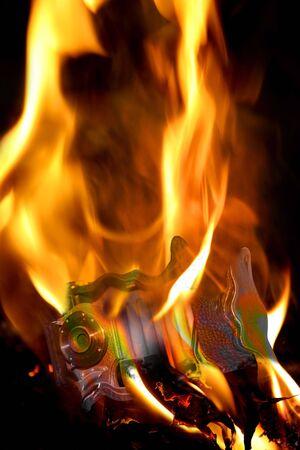Burning Camera photo