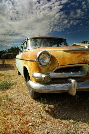 ghost town: Rustic Car