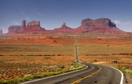 plateau point: Monument Valley Stock Photo