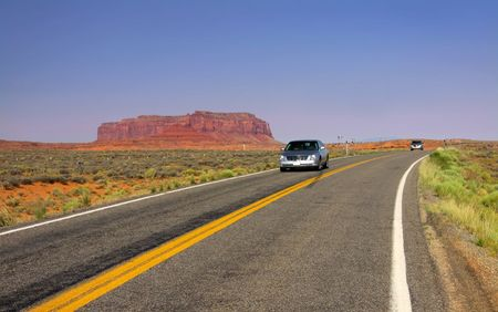 plateau point: Scenic drive in monument valley