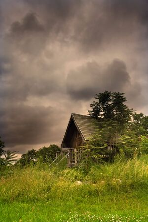 Cabin In The Middle Of Scenic Landscape Stock Photo - 5382669