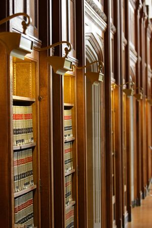 Biblioteca de Libros de Derecho Foto de archivo - 5382723