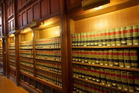 法律の本の図書館 写真素材