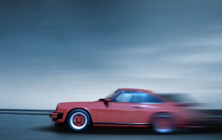 Fast moving car Stock Photo - 5485340