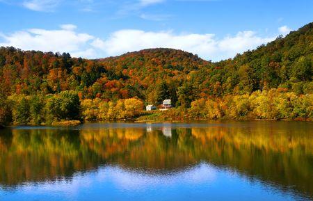 Im Herbst Landschaft Standard-Bild