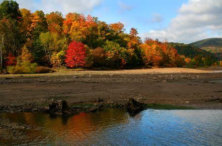 Autumn reflection photo