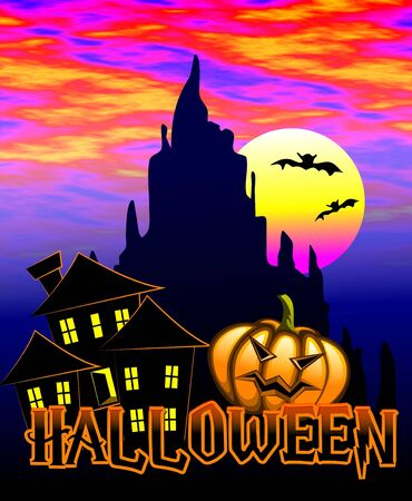 chill: Halloween poster Stock Photo