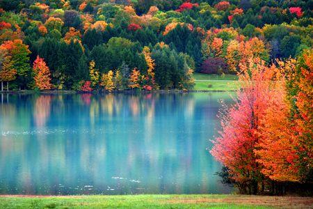 allegheny: autumn landscape