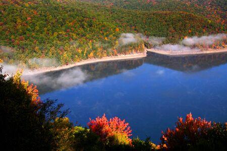 fallcolours: Scenic autumn landscape in Pennsylvania Stock Photo