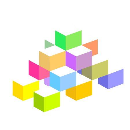 Kleurrijke 3d blokken Stockfoto