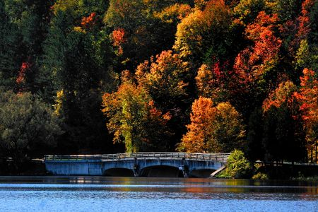 allegheny:  Autumn landscape in Allegheny