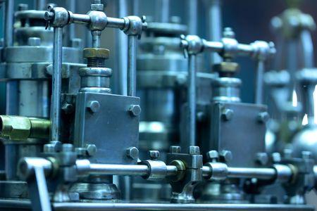 steam engine: Old steam engine model
