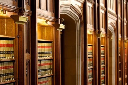 book shelf: Law book library Stock Photo