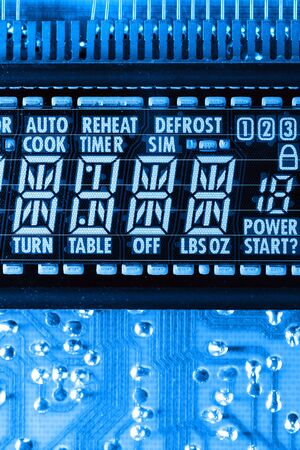 defrost: Microwave LCD Stock Photo
