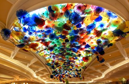 Colorful lamps photo