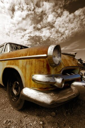 Rustic car photo
