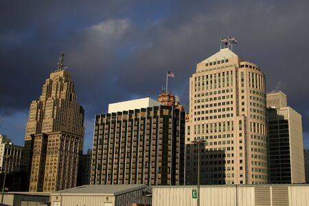 overcast: Downtown Detroit