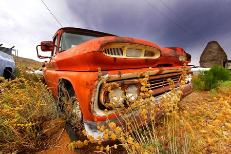 Old abandoned car photo