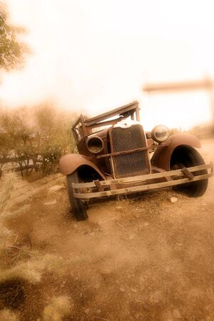 wrecked: Wrecked vintage car