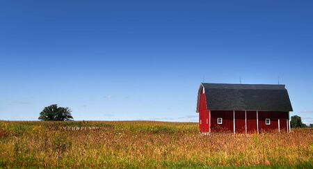 michigan: Red Barn