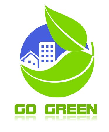 ozone friendly: Go green icon