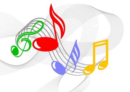 music:   Colorful music notes  Stock Photo