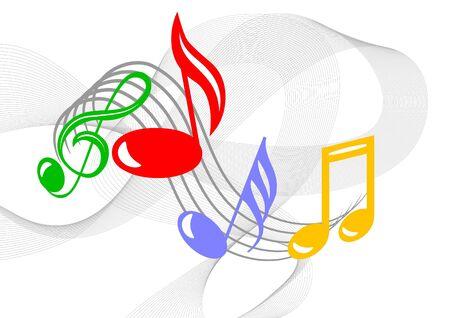Kleurrijke muziek noten