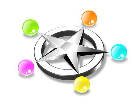Star and balls
