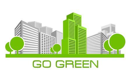 air pollution cartoon: Go Green