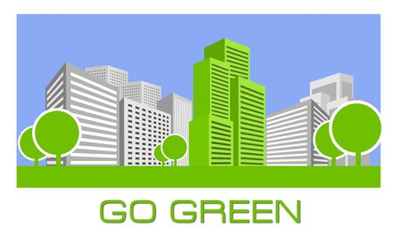 city building: Go Green