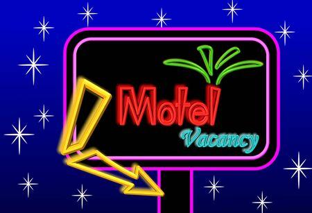 Motel sign board Imagens