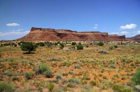 navajo land: Red rock mountains