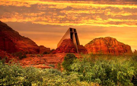 sedona: Evening sky in Sedona,Arizona