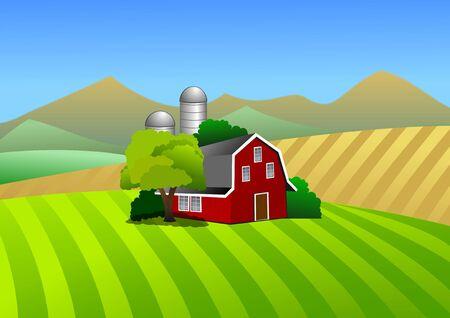 Boerderij illustratie