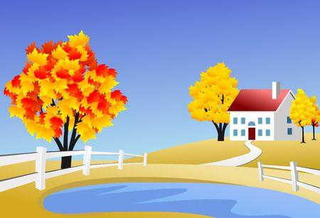 row houses: Scenic farm landscape