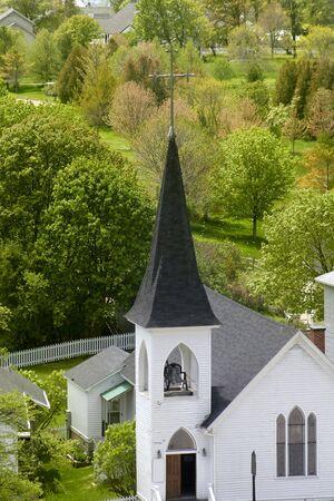 mackinac: Church in Mackinac island