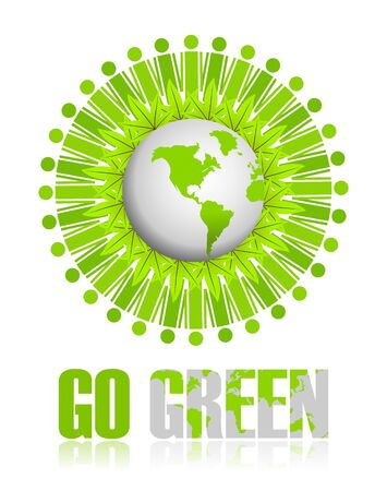 environmentally friendly: Go Green icon Stock Photo