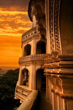hyderabad: Charminar with evening sky Stock Photo