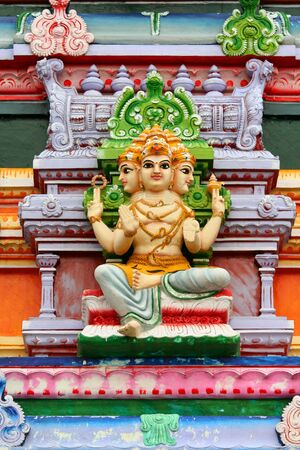 monument in india: Hindu god statue on temple