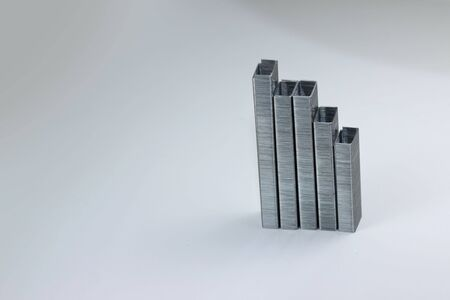 Bar chart made with staples