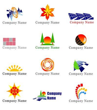 Solar energy design elements Stock fotó - 6569626