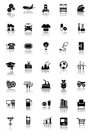 工業用アイコン 写真素材