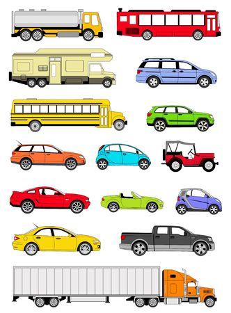 Transportation icons Stock Photo - 6569625