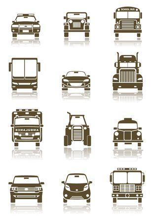 Transportation icons photo